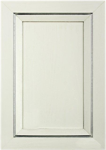 Білий текстурований Патина лінійна матова срібна Image